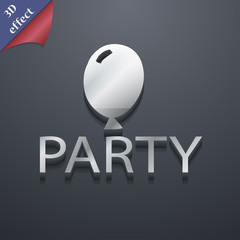 Party icon symbol. 3D style. Trendy, modern design