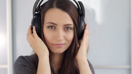 Portrait of Girl With Headphones