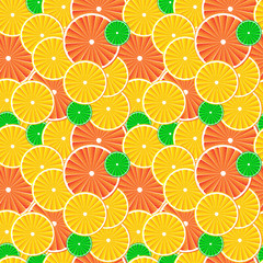 Citrus fruit slices background.