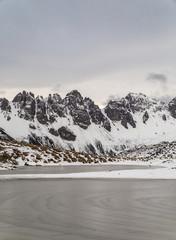wolkig in den Alpen