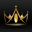 Gold crown for logo and graphic designer - 76375403