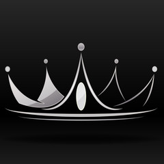 silver crown for designer and logo graphic