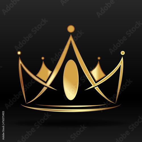 Gold Crown Logo Vector