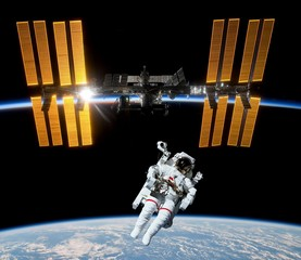 Astronaut Satellite Space Earth