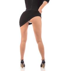 Sexy butt ass girls in white underwear isolated