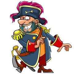 cartoon funny pirate dancing