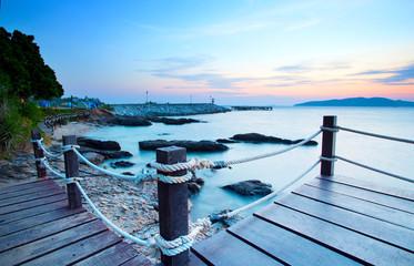 beautiful sea scape in morning light of khao leam ya marine nati