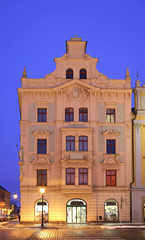 Republic square in Plzen. Czech Republic