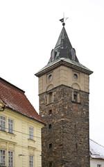 Old tower in Plzen. Czech Republic