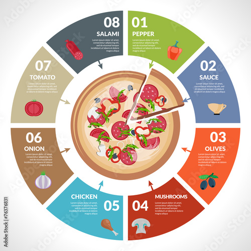Pizzeria infographics set - 76376831