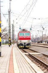 Slovak electric train on station