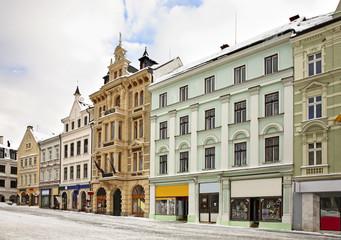 Benes Square in Liberec. Czech Republic