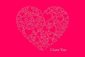 Стилизованный фон с сердечками