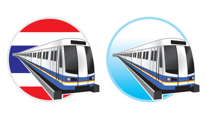 Bangkok subwaytrain icon vector illustration