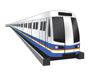 Bangkok subwaytrain icon vector illustration
