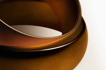 Two velvety rings encrusted with gold
