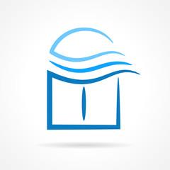 windows emblem wind symbol element vector icon
