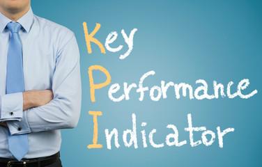 Businessman and KPI