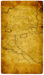 Old paper map.