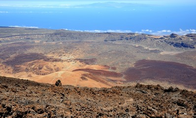 Вид в вулкана