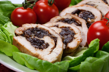 Turkey Breast Roulade on Butter Lettuce