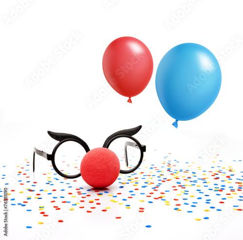 Fasching mit Luftballons