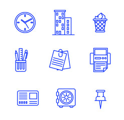 Business icons set.Vector illustration.