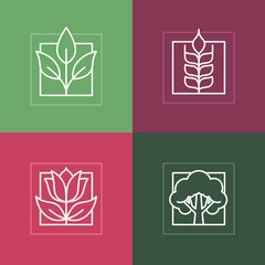 Vector line logos