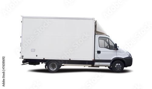 Leinwandbild Motiv Truck isolated on white