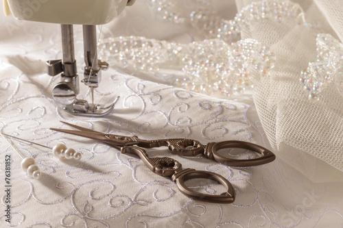 Leinwandbild Motiv Sewing Scissors