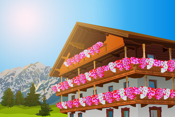 Alps traditional house