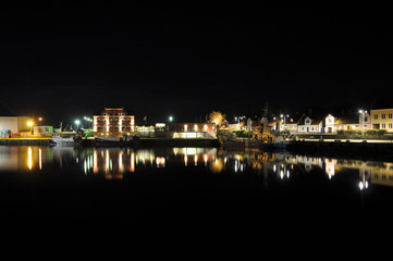 Port of Simrishamn by night