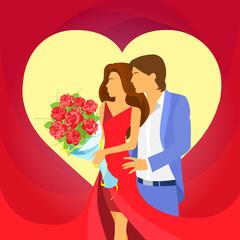 valentine day holiday couple heart shape, Valentine's rose
