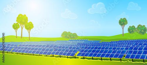 Modern solar panels - 76382040