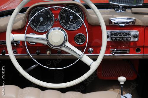 Foto op Canvas Vintage cars Lenkrad