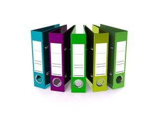 Folder for documents 3d render