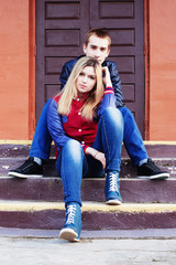 young couple outdoor
