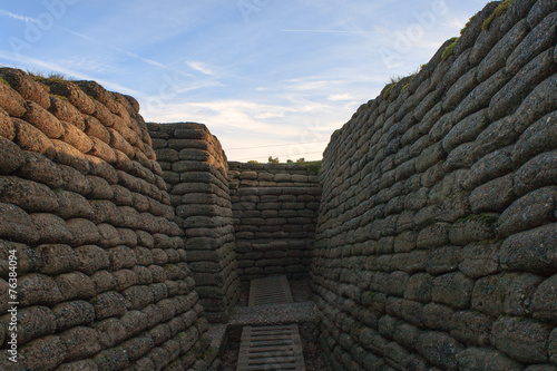 the trenches of the battlefield at Vimy France - 76384094