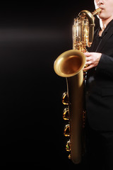 Saxophone baritone musical instruments