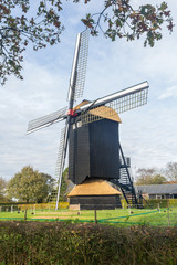 Typical Dutch Doesburger mill in Gelderland Holland