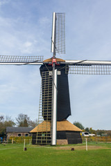 Typical Dutch Doesburger mill in Gelderland Holland