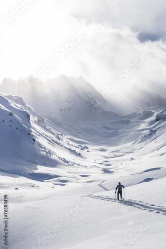 Fototapeta Wintersport in den Bergen