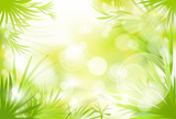 green grass spring abstract blur background vector