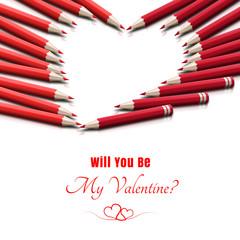 Miłosna kartka walentynkowa 'Will You Be My Valentine?'
