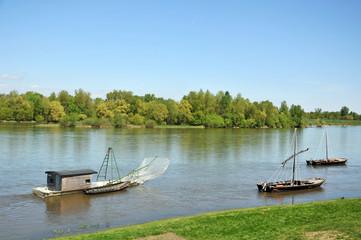 fish boat along the river,Loira