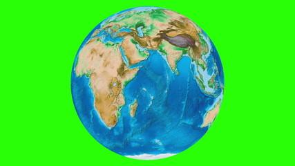 Looping Earth Rotation Chroma Key Looped