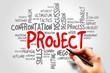 Project business & finance word cloud, business concept