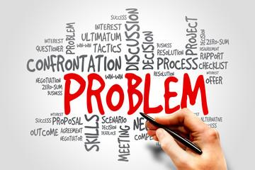 Problem word cloud, business concept
