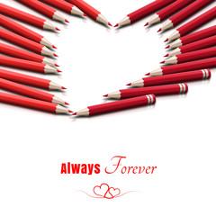 Kartka walentynkowa 'Always & Forever'