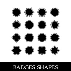 Badges shapes, symmetrical designs and shapes for emblems, set 3